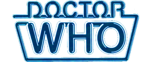 Peter Davison logo (recoloured version of the logo used on many Target books)
