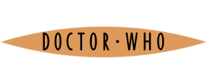 Flat colour Doctor Who logo (orange with black)