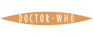 Flat colour Doctor Who logo (orange with white)