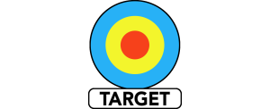 Target logo (colour with black border)